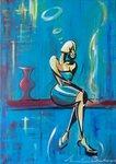 Relax, Gemälde modern Büro, Kunst Anette Betros, Kunst Schildow